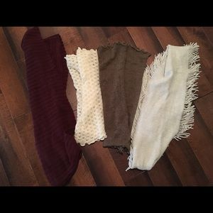 Scarf lot - 4 scarves